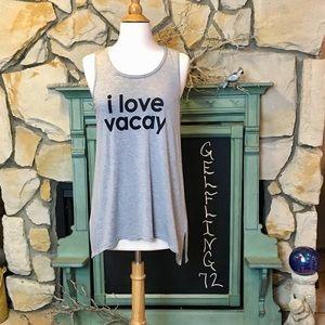 Peace Love World I Love Vacay Tank Top